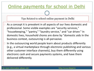 Fundamental of online payment for school in Delhi