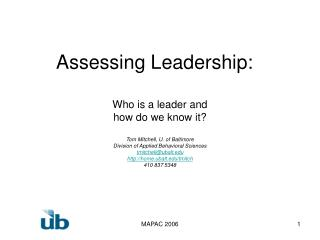 Assessing Leadership:
