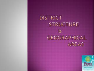 District    Structure      geographical areas