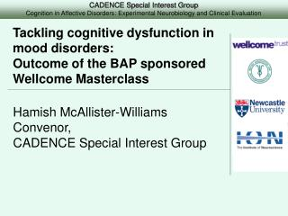 Tackling cognitive dysfunction in mood disorders:  Outcome of the BAP sponsored Wellcome Masterclass