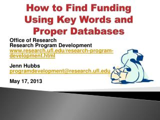 How to Find Funding Using Key Words and Proper Databases