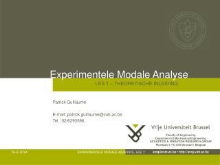 Experimentele Modale Analyse