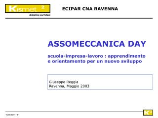 Giuseppe Reggia Ravenna, Maggio 2003