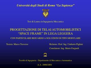 Universit  degli Studi di Roma  La Sapienza