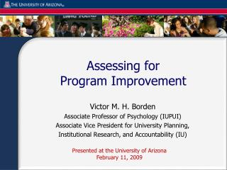 Assessing for  Program Improvement