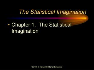The Statistical Imagination