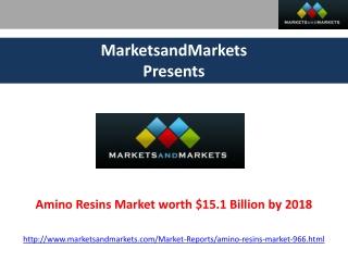 Amino Resins Market Forecasts 2018