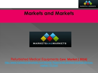 Global Refurbished Medical Equipments Market worth $8.45 Bil