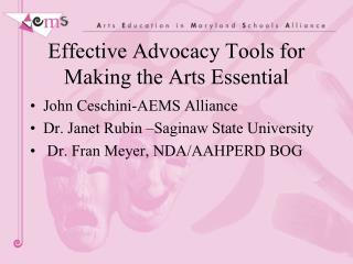 Effective Advocacy Tools for Making the Arts Essential
