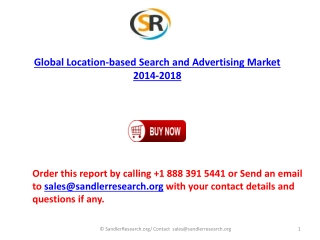 Global Location-based Search and Advertising Market 2018 For