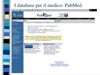 I database per il medico: PubMed
