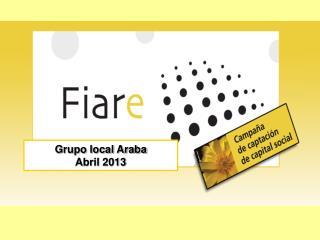 Grupo local Araba Abril 2013