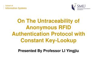 On The Untraceability of  Anonymous RFID Authentication Protocol with Constant Key-Lookup
