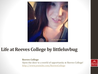 Life at Reeves College on Instagram by littleluvbug