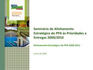 Semin rio de Alinhamento Estrat gico do PPA  s Prioridades e Entregas 2009