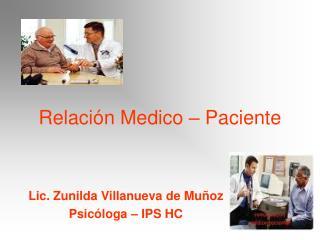 Relaci n Medico   Paciente