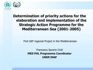 Determination of priority actions for the elaboration and implementation of the Strategic Action Programme for the Medit