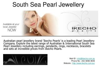 South Sea Pearl Jewellery  in Australia