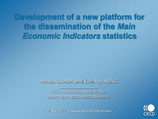 Development of a new platform for the dissemination of the Main Economic Indicators statistics