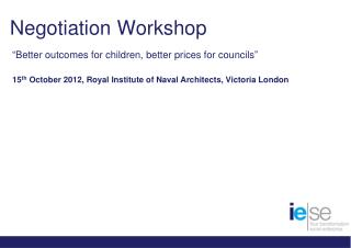 Negotiation Workshop
