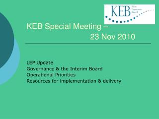 KEB Special Meeting        23 Nov 2010