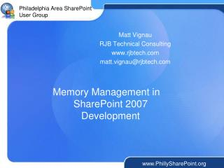 Memory Management in SharePoint 2007 Development
