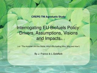 CREPE-TNI Agrofuels Study