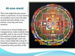 At-one-ment - Lama Surya Das Scandal