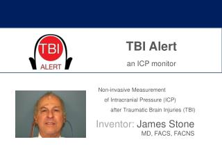 TBI Alert an ICP monitor