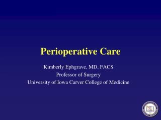 Perioperative Care