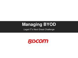 Managing BYOD