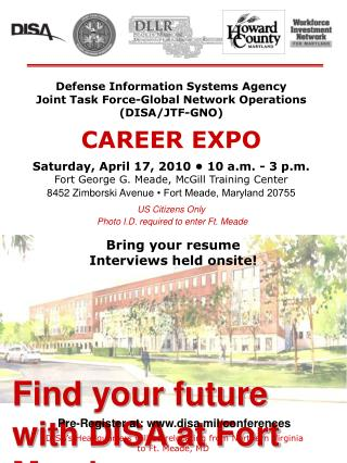Find your future with DISA at Fort Meade