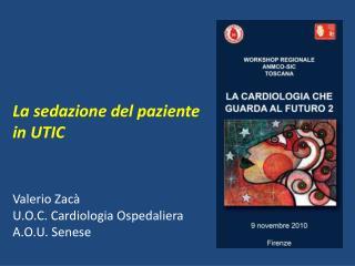 La sedazione del paziente in UTIC