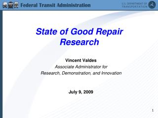 State of Good Repair Research
