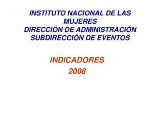 INDICADORES  2008