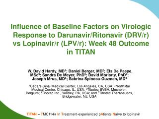 Influence of Baseline Factors on Virologic Response to Darunavir
