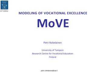 MODELING OF VOCATIONAL EXCELLENCE   MoVE