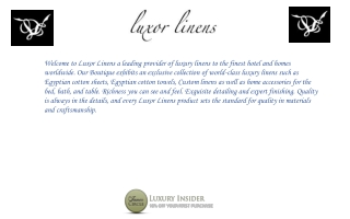 Luxor Linens Products Reviews