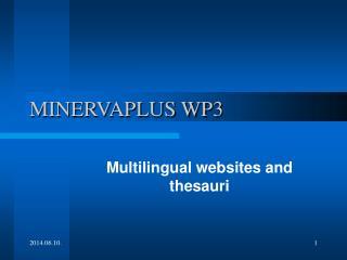 MINERVAPLUS WP3