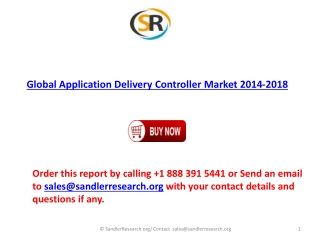 2014-2018 Global Application Delivery Controller Market Fore