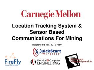 Location Tracking System  Sensor Based Communications For Mining