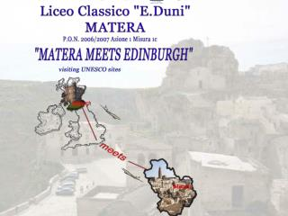EUROFORM b1- annualit  2003 LET S EUROPE b2- annualit  2004  MATERA MEETS BATH  -  Annualit  2005 MATERA MEETS EDINBURGH