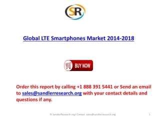 2014-2018 Global LTE Smartphones Market Forecasts