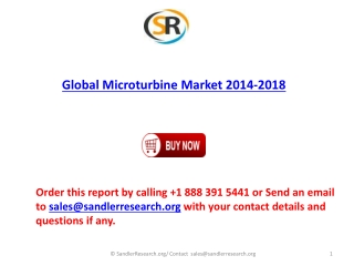 2014-2018 Global Microturbine Market Forecasts
