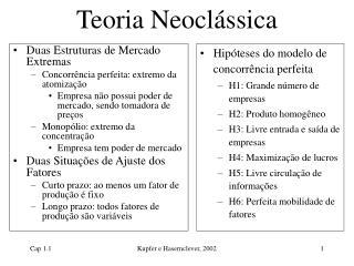 Teoria Neocl ssica