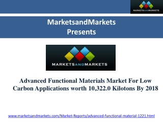 Advanced Functional Ceramics Market For Low Carbon Applicati