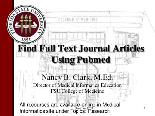 Find Full Text Journal Articles Using Pubmed