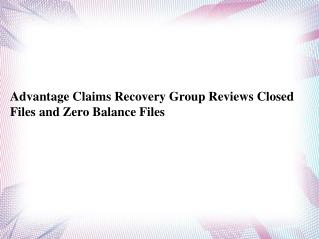 Advantage Claims Recovery Group Inc.