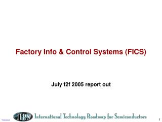 Factory Info  Control Systems FICS