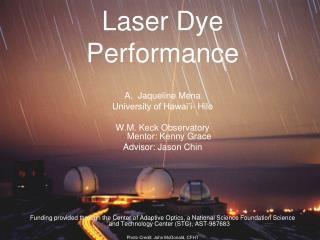 Laser Dye Performance